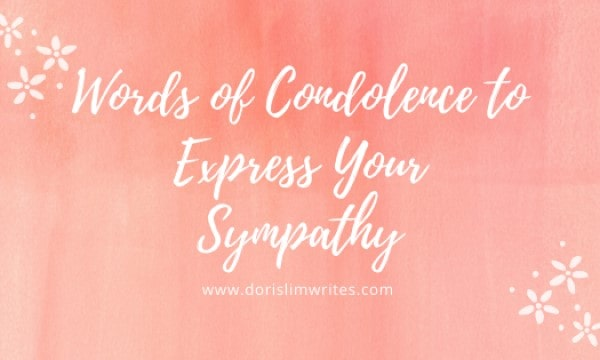 Words of Condolence to Express Your Sympathy